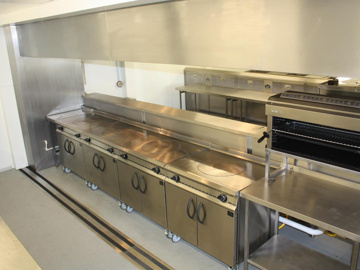 Kitchen facilities to cope with 10s to 1000s of covers daily.